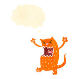 Retro cartoon ginger cat Stock Images