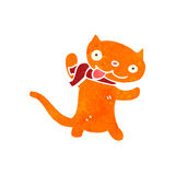 Retro cartoon ginger cat Royalty Free Stock Photos