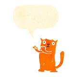 Retro cartoon ginger cat Royalty Free Stock Image
