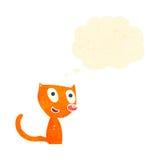 Retro cartoon ginger cat Royalty Free Stock Image