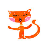 Retro cartoon ginger cat Royalty Free Stock Photo