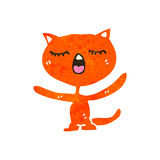 Retro cartoon ginger cat Royalty Free Stock Images