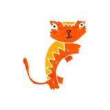 Retro cartoon ginger cat Royalty Free Stock Photography