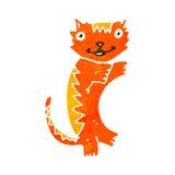 Retro cartoon ginger cat Stock Photo