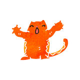 Retro cartoon ginger cat Stock Image