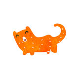 Retro cartoon ginger cat Royalty Free Stock Photo