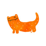 Retro cartoon ginger cat Royalty Free Stock Photography