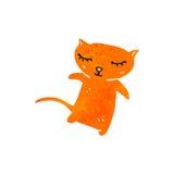 Retro cartoon ginger cat Royalty Free Stock Images