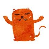 Retro cartoon ginger cat Stock Photography