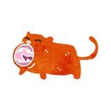 Retro cartoon ginger cat Stock Image
