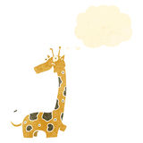 Retro cartoon giraffe Stock Image