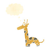 Retro cartoon giraffe Stock Photography