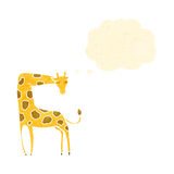 Retro cartoon giraffe Royalty Free Stock Photography
