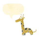 Retro cartoon giraffe Royalty Free Stock Photo