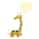 Retro cartoon giraffe Stock Photo