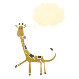 Retro cartoon giraffe Stock Images