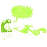 retro cartoon glowing green ghost Stock Photo