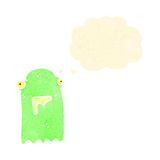 retro cartoon glowing green ghost Royalty Free Stock Photos