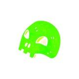 Retro cartoon glowing green skull symbol Royalty Free Stock Photo