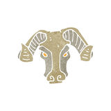 retro cartoon goat head Royalty Free Stock Photography