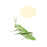 retro cartoon grasshopper Stock Photography