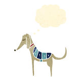 Retro cartoon greyhound Royalty Free Stock Photos
