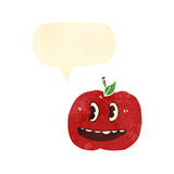 Retro cartoon grinning apple Royalty Free Stock Photo