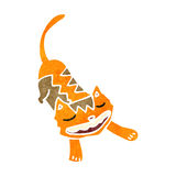 Retro cartoon grinning cat Stock Images