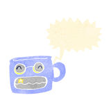 Retro cartoon grinning mug Royalty Free Stock Images