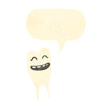 Retro cartoon grinning tooth Royalty Free Stock Images