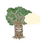Retro cartoon grinning tree Royalty Free Stock Photos