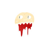 retro cartoon gross bloody skull symbol Stock Photo
