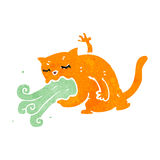 Retro cartoon gross cat Stock Images