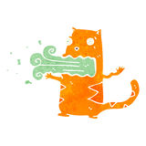 Retro cartoon gross cat Royalty Free Stock Photography