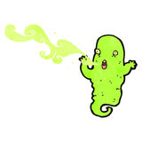 Retro cartoon gross ghost shooting slime Royalty Free Stock Photos
