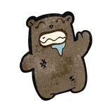retro cartoon gross little bear Royalty Free Stock Images