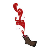 Retro cartoon gross severed foot Royalty Free Stock Photos