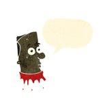Retro cartoon gross severed head Stock Photo