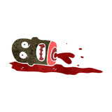 Retro cartoon gross severed head Stock Image