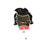 Retro cartoon gross severed head Stock Images