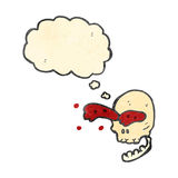 Retro cartoon gross skull Royalty Free Stock Image