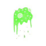 Retro cartoon gross slime monster Royalty Free Stock Images
