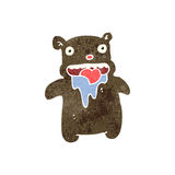 Retro cartoon gross teddy bear Royalty Free Stock Image