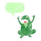 Retro cartoon gross toad Stock Image