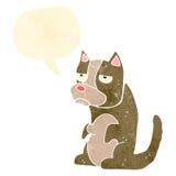 Retro cartoon grumpy little dog Stock Images
