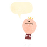 Retro cartoon grumpy man Royalty Free Stock Images