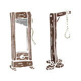 Retro cartoon guillotine and hangman's noose Royalty Free Stock Photo