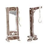 retro cartoon guillotine and hangman's noose Royalty Free Stock Photo