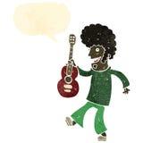 Retro cartoon guitar player Royalty Free Stock Photography