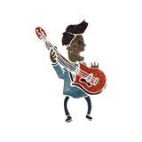 Retro cartoon guitar player Stock Photo
